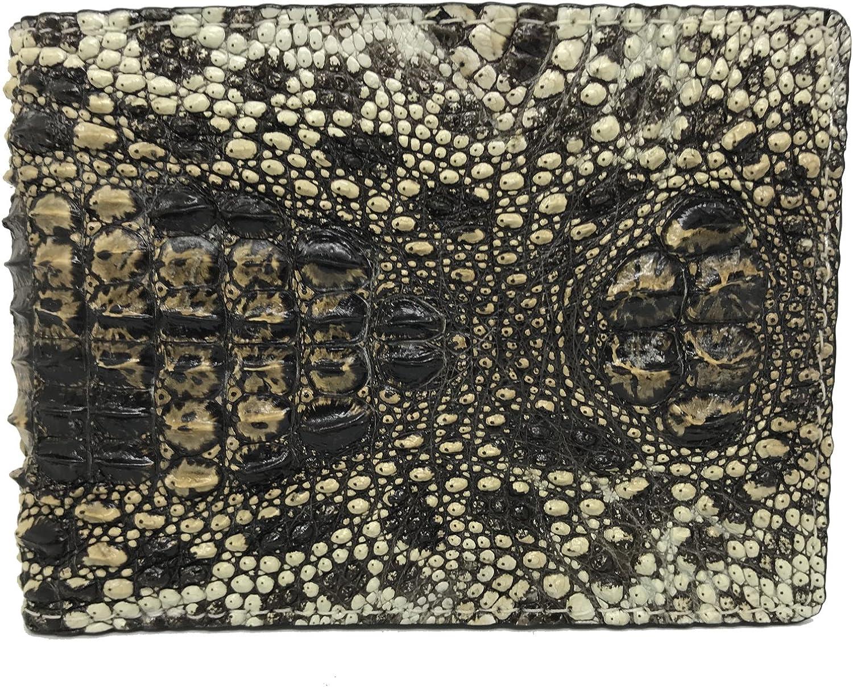 Unique Genuine Crocodile Alligator Skin Leather Man Bifold Wallet