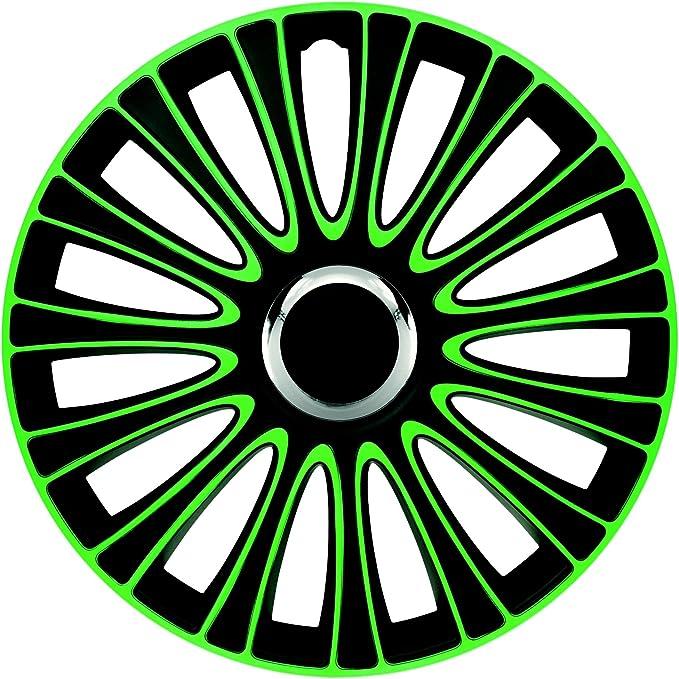 Zentimex Radzierblenden Radkappen Radabdeckung 14 Zoll 904 GrÜn Schwarz Auto