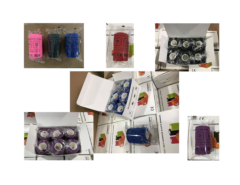 Risscly Rose 10cm bandage coh/ésifs auto bande coh/ésive,pansements bande cohesive adhesive bandages 6 rouleaux