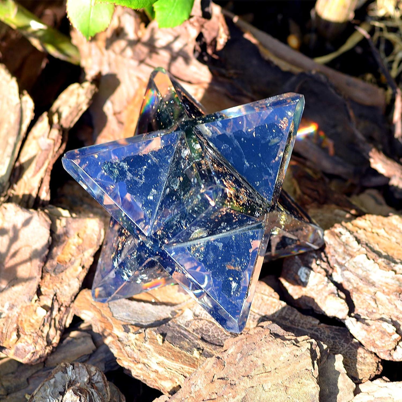 EMF Protection Meditation Energy Generator for Balancing Chakras Orgonite Crystal Black Tourmaline Merkaba