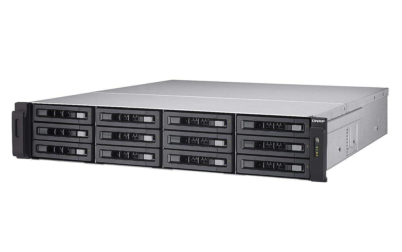 LAN-10G2SF-MLX 40G ready without rail kit QNAP TS-EC1280U-E3-4GE-R2 Rack 12Bay Xeon E3-1200 v3 4 GB ECC RAM Max. 32GB RAM