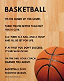 "Unframed Basketball Female 8"" x 10"" Sport Poster Print"