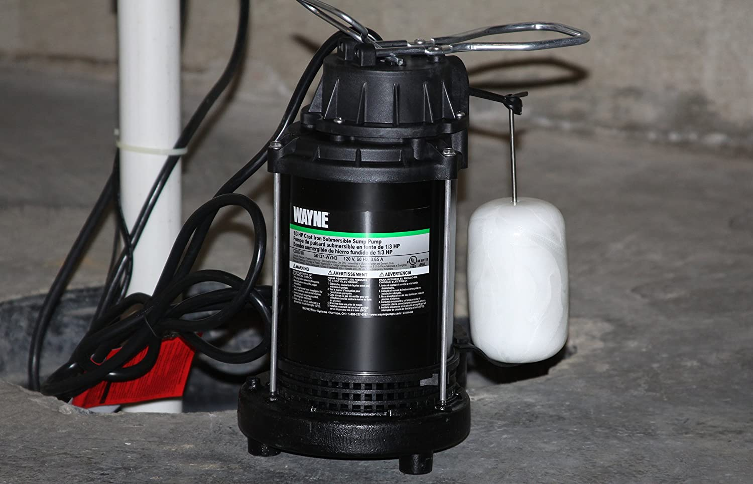 Wayne Cdu790 1 3 Hp Submersible Cast Iron And Steel Sump Pump With Wiring Diagram Integrated Vertical Float Switch