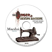 The Singer Sewing Machine – 18 Vintage E-books PDF on 1 DVD,Textiles,Complete sewing instructions,Old books on disc