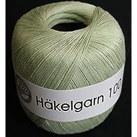 Grundl - HAKELGARN 100 fil coton à crocheter Häkelgarn- Grundl - Vert 123