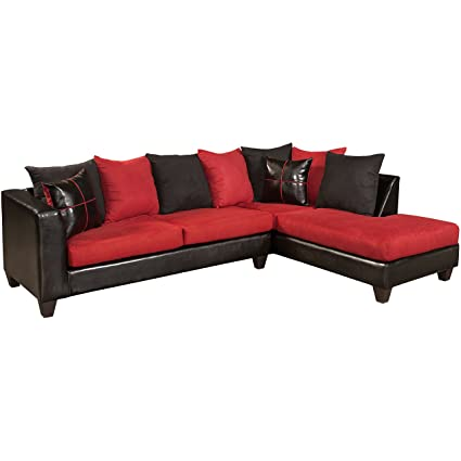 Flash Furniture Riverstone Victory Lane Cardinal Microfiber Sectional