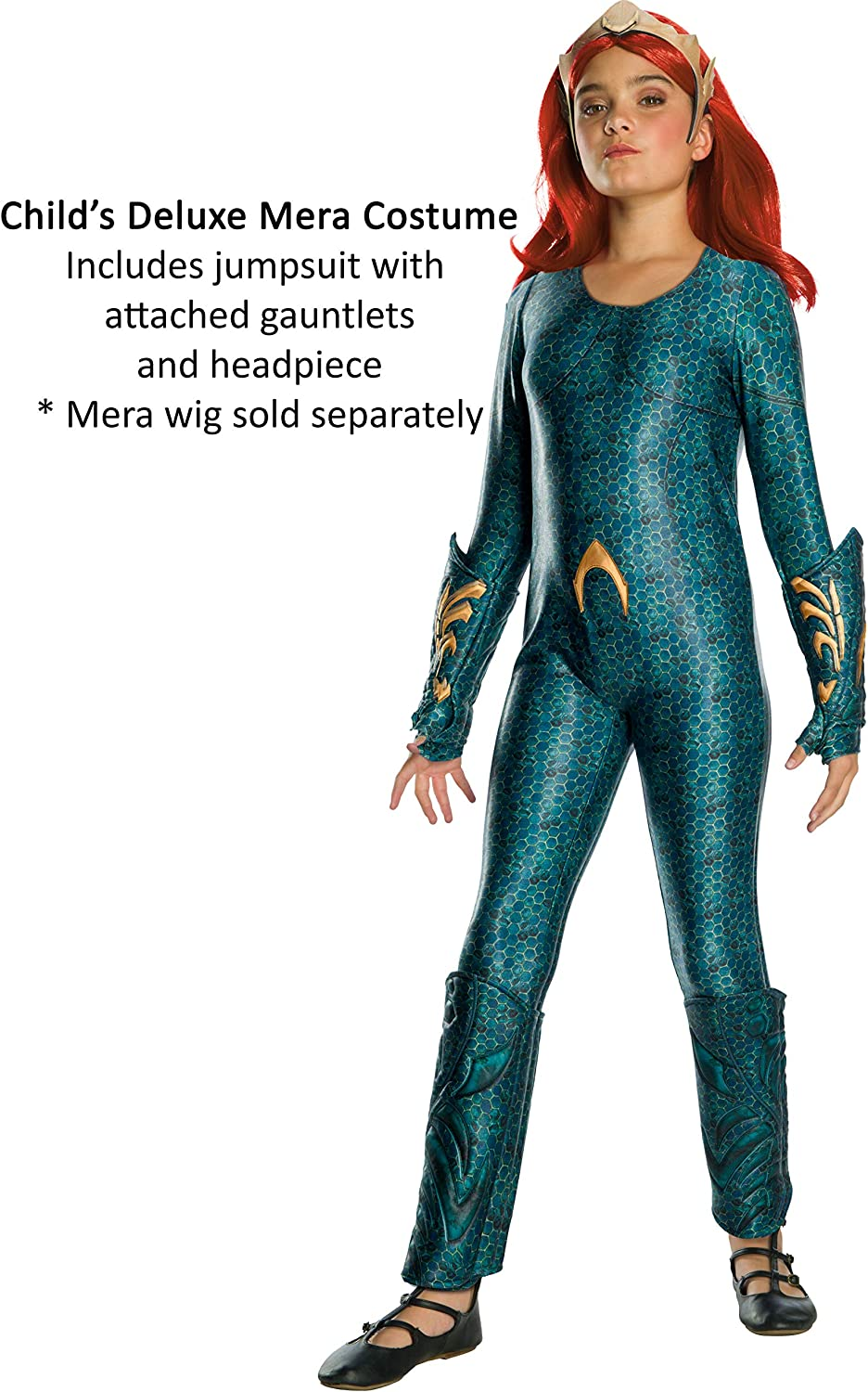 As Shown Large Rubies Womens Standard Aquaman Movie Adult Deluxe Mera Costume