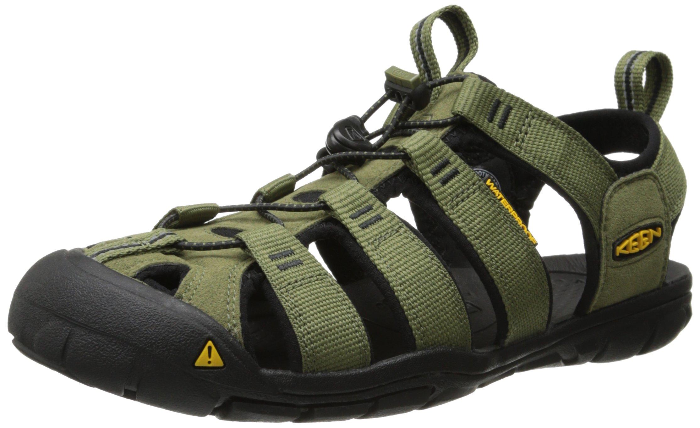 KEEN Men's Clearwater CNX Hybrid Shoe, Burnt Olive/Black, 8.5 M US