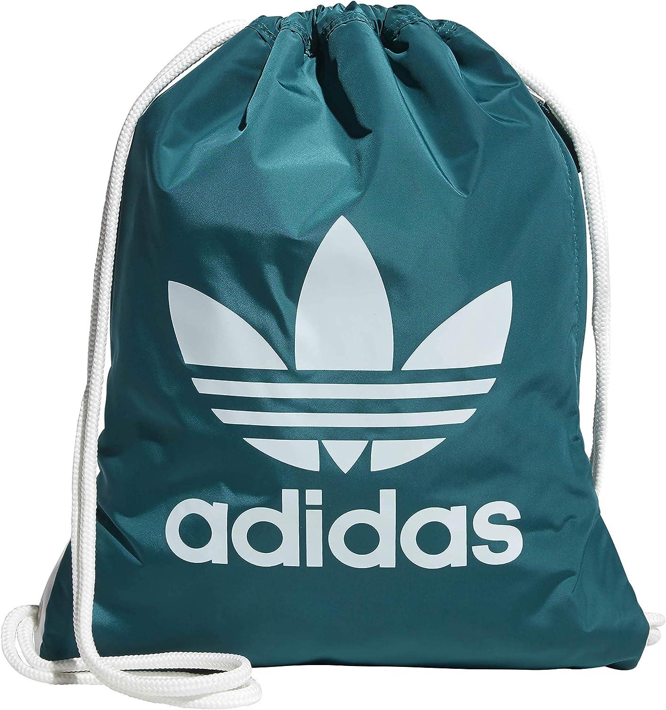 adidas Originals Unisex Trefoil Sackpack, Noble Green/White, ONE SIZE