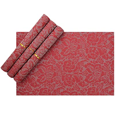 vinyl placemats red heat resistant placemats for kids christmas placemats set of 4
