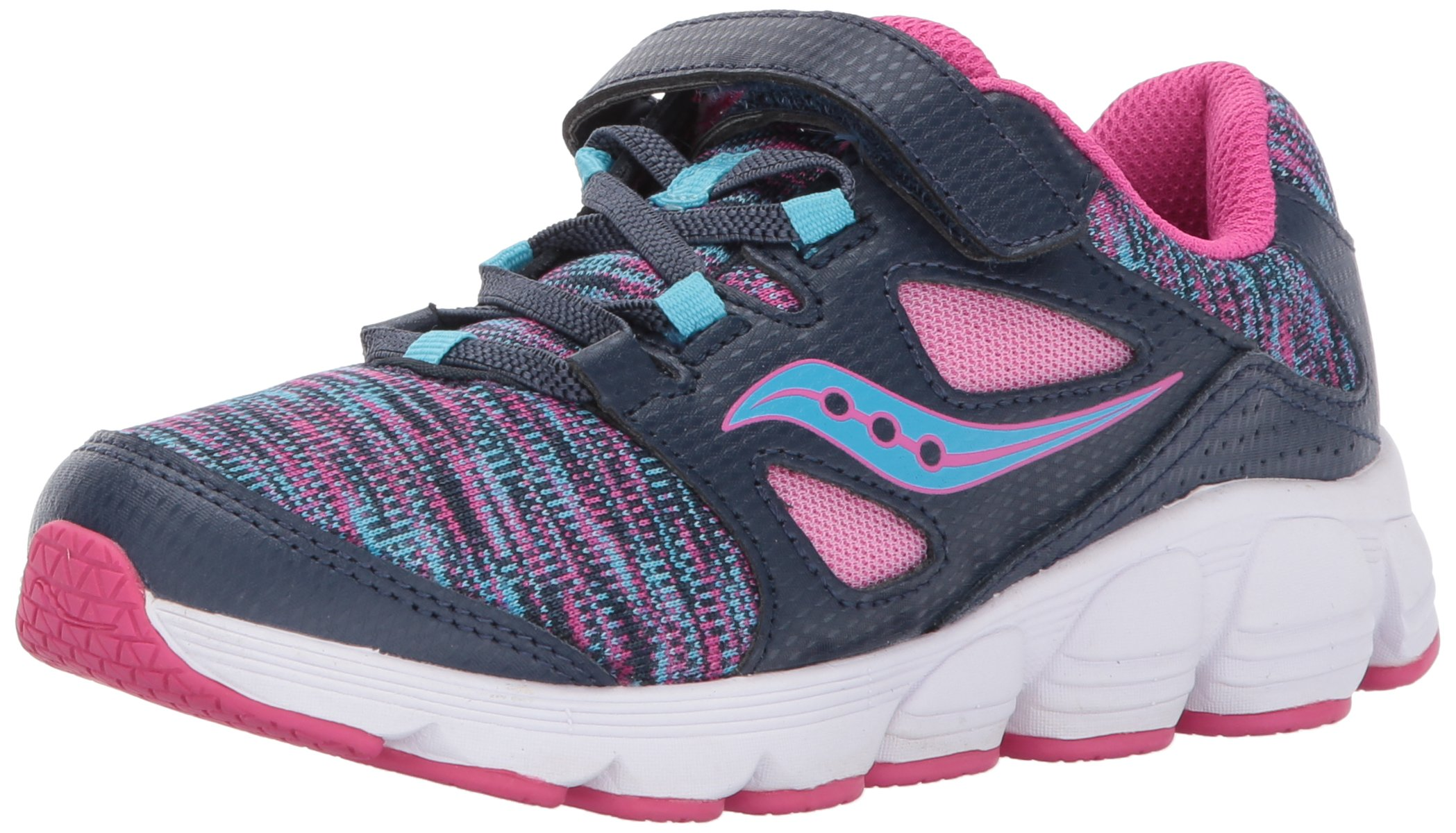 Saucony Kotaro 4 A/C Sneaker (Little Kid/Big Kid), Navy/Multi, 12 M US Little Kid