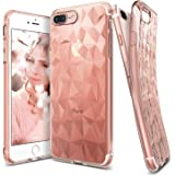 iPhone 7 Plus Case, Ringke [AIR PRISM] 3D Contemporary Chic Design Pyramid Stylish Geometric Diamond Pattern Textured Back Flexible Light & Slim Protective Cover For Apple iPhone 7 Plus – Rose Gold