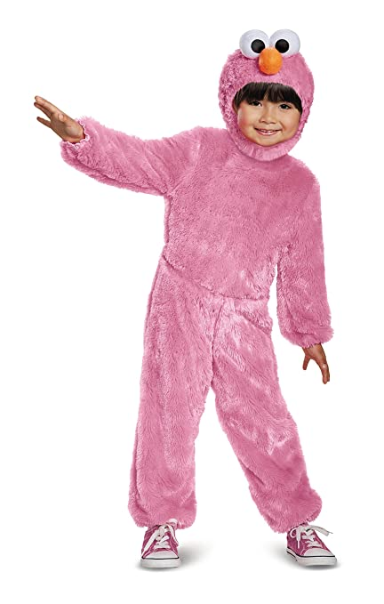 Elmo Comfy Fur Costume, Pink, Small (2T)