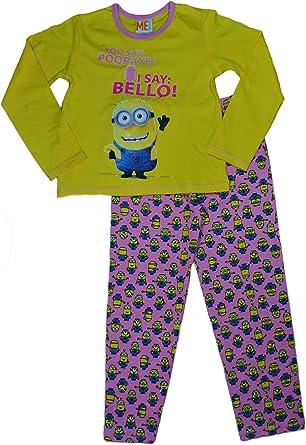 Universal Studios - Pijama de Minions para niñas con texto en inglés