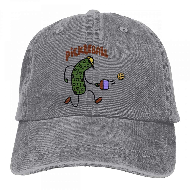 JTRVW Mens Womens Pickle Ball Cotton Adjustable Peaked Baseball Dyed Cap Adult Custom Casual Baseball Cowboy Hats