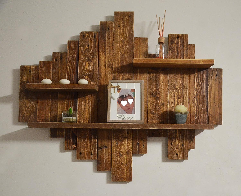 Estante de madera recuperada unidad de pared rústico hecho de ...