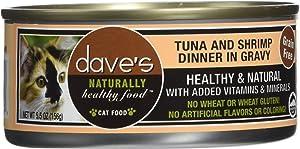 Dave'S Pet Food Tuna And Shrimp Food (24 Cans Per Case), 5.5 Oz.
