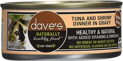 Dave S Pet Food Tuna And Shrimp Food 24 Cans Per Case , 5.5 Oz.