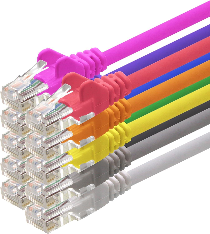 1attack Cat5 Utp Netzwerk Patch Kabel Mit 2x Rj45 Computer Zubehör