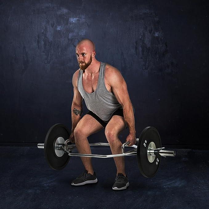 CAPITAL SPORTS • Beastbar Hex-Bar • Barra para pesas • Peso muerto • Deadlift Bar • Tríceps • Forma Hexagonal • Levantamiento saludable espalda y rodillas ...