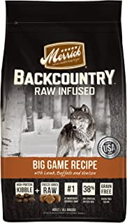 product image for Merrick Backcountry Grain Free Raw Infused Dry Dog Food
