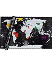 Goods & Gadgets GmbH Scratch Off World Map - Weltkarte zum Rubbeln - Rubbel Landkarte Deluxe Poster XXL