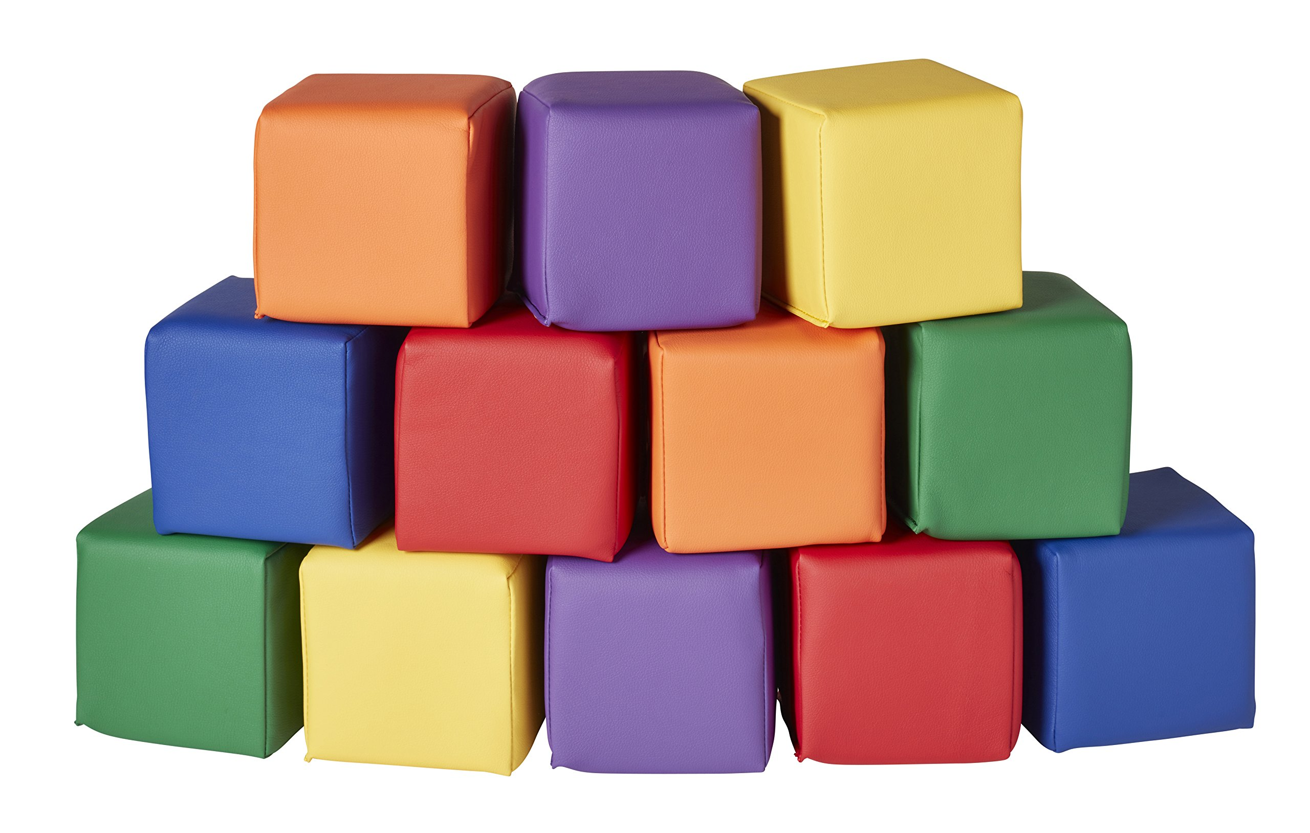 ECR4Kids SoftZone Toddler Soft Blocks 12 Piece Set