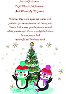 nephew girlfriend christmas card cute