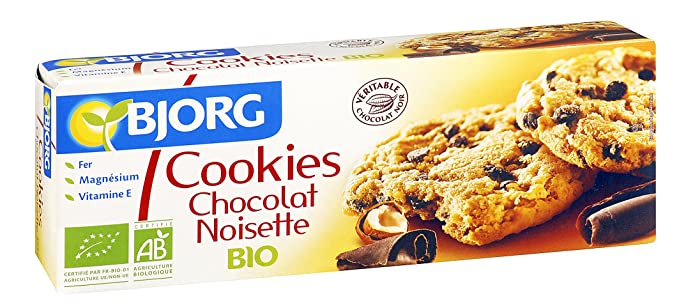 Bjorg Cookies de Chocolate con Avellanas Galletas - Paquete de 8 x 200 gr - Total