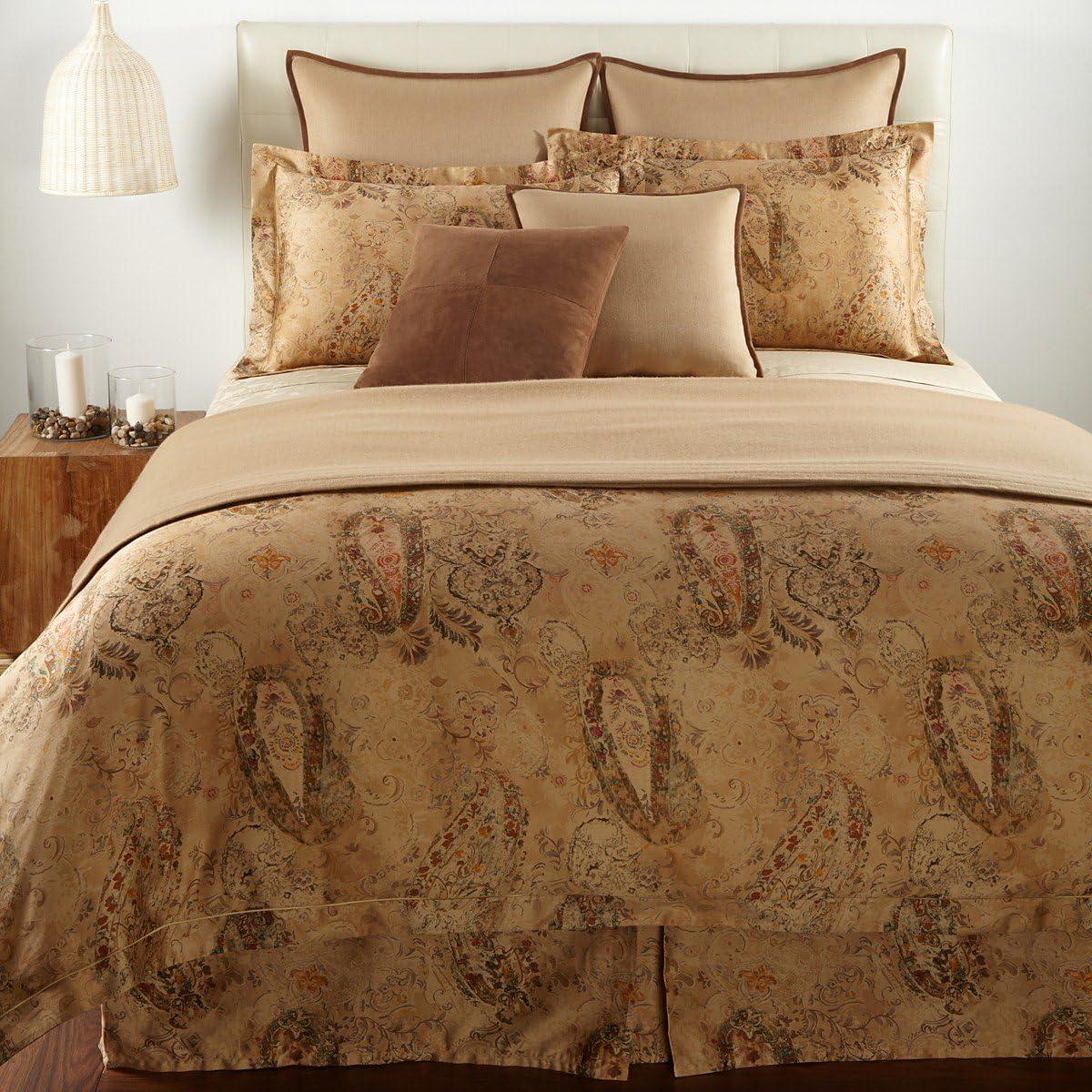 Lauren Ralph Lauren Verdonnet Paisley Full / Queen Duvet Cover Camel