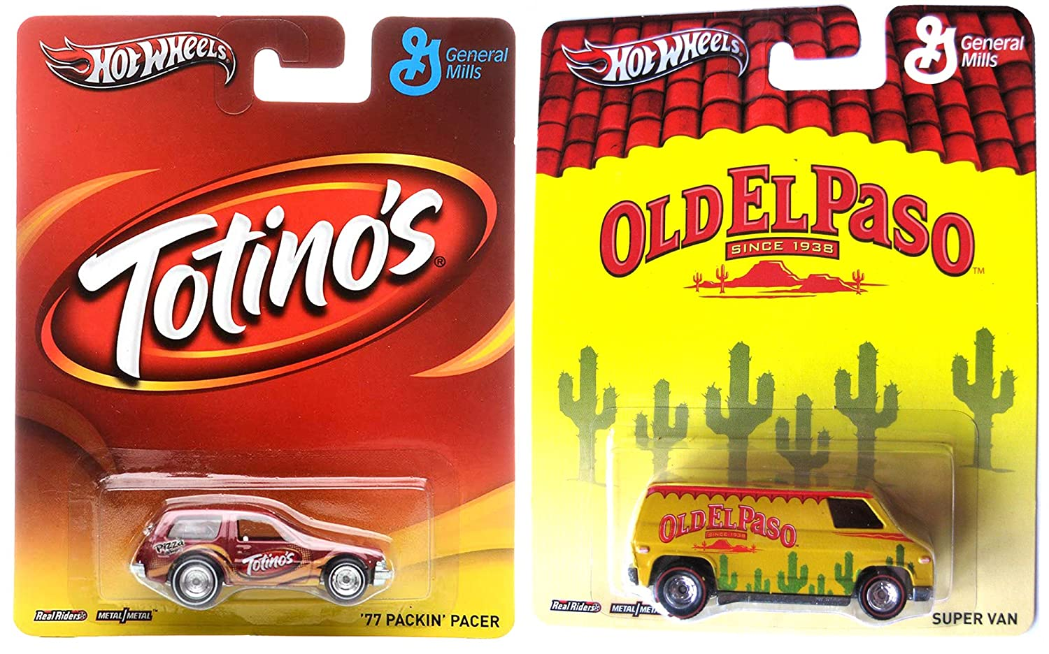 Amazon com: Totino's & Old El Paso Hot Wheels 2 Car Set Pop