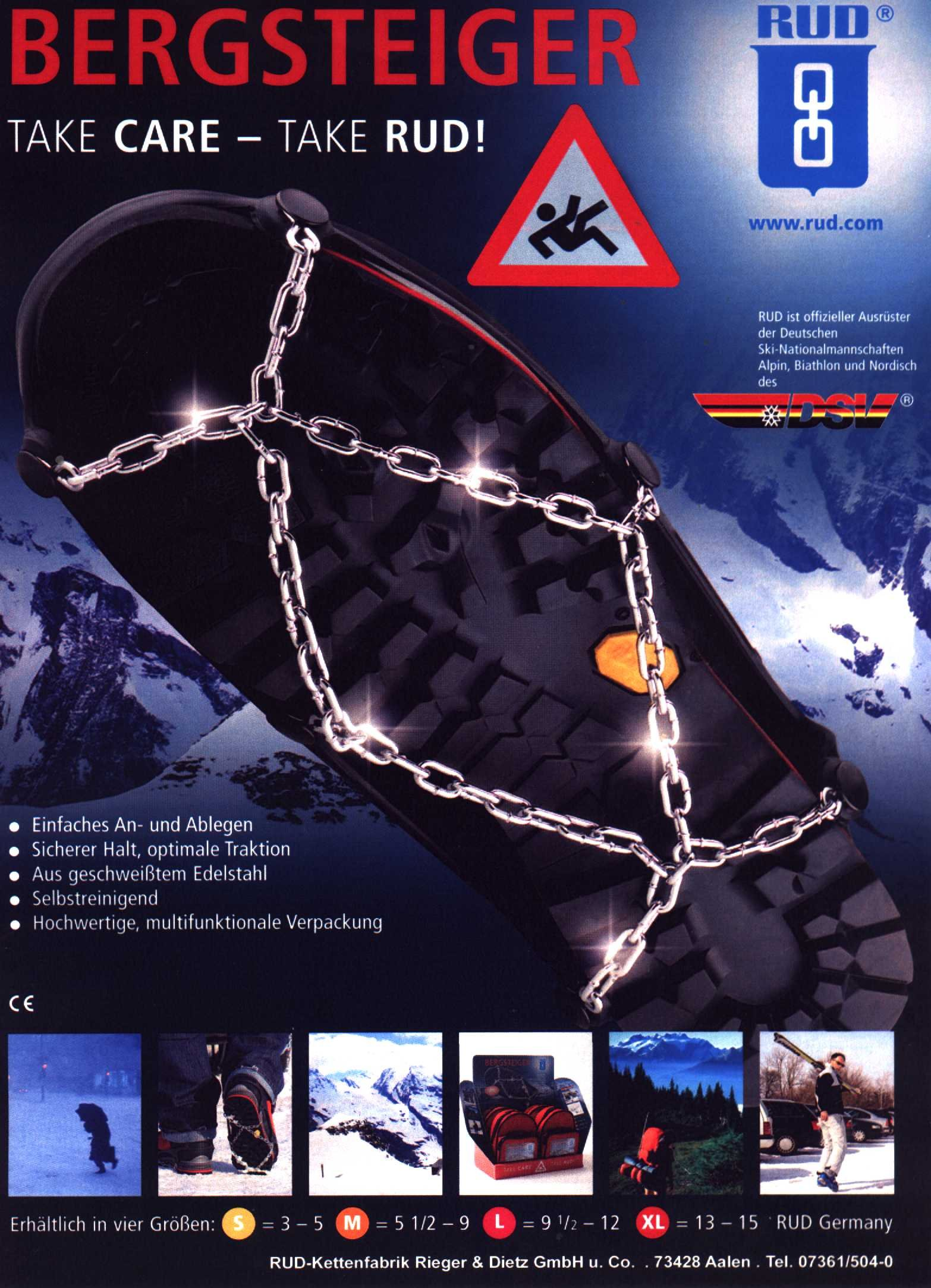 Shoe Snow & Ice Chains (XL)