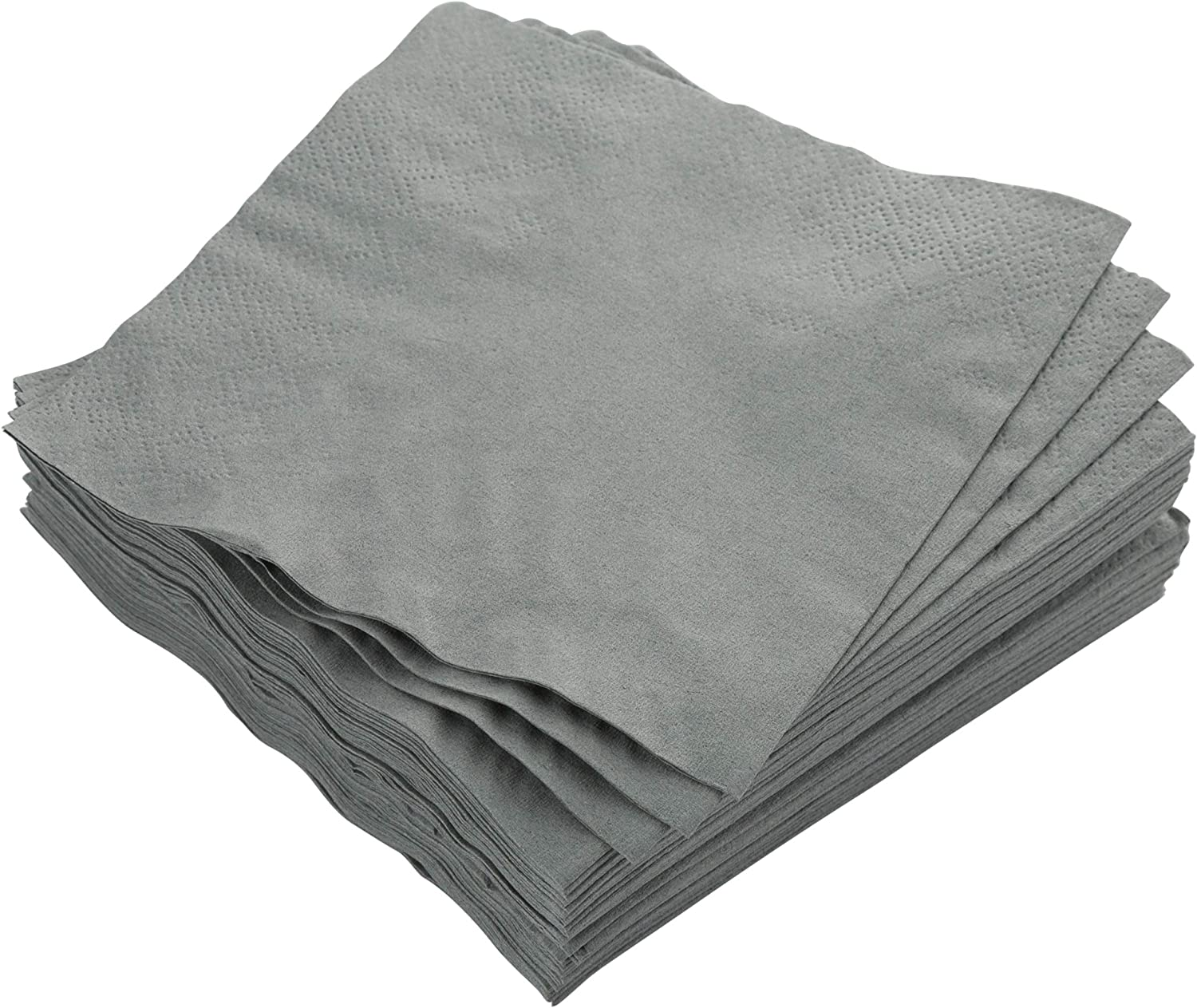 Exquisite 300 Pack of Beverage Paper Napkins The 2 Ply Party Napkins are Highly Absorbent and Available in a Wide Range of Vibrant Colors - Silver Napkins