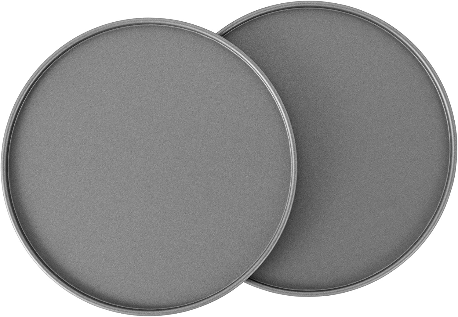 G & S Metal Products Company OvenStuff Non-Stick Toaster Oven Pizza Pan, Set of Two, Gray