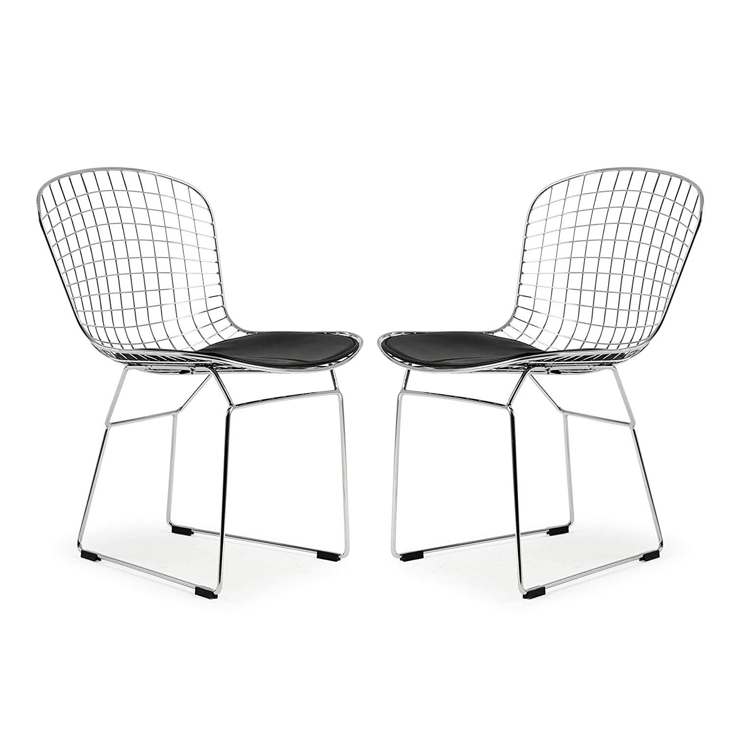 Poly and Bark Morph Side Chair in Black Set of 2