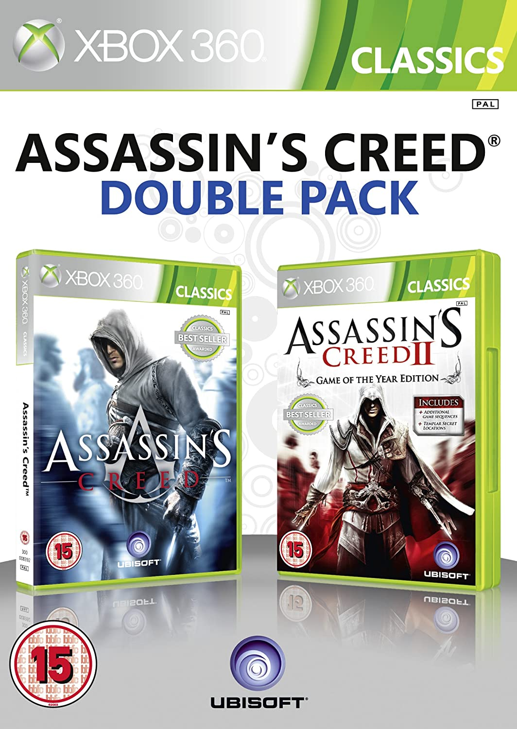 Ubisoft Double Pack - Assassins Creed 1 & 2 (Xbox 360 ...