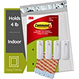 Command Sawtooth Picture Hangers Value Pack, 4 Hangers & 8 Strips, PH040-4NA