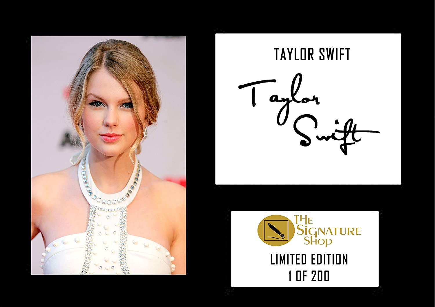 The Signature Shop Taylor Swift Limited Edition Autogramm A4
