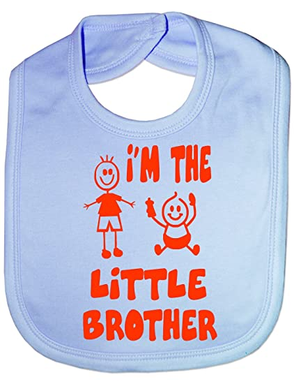 I/'m The Little Brother Baby Feeding Bib Gift