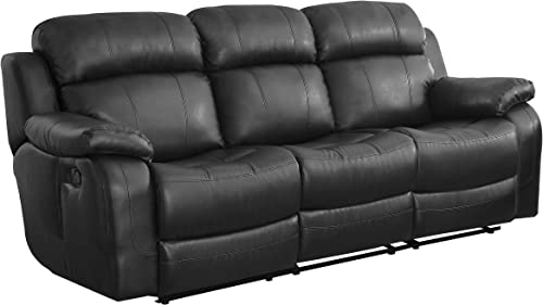 Homelegance Marille Reclining Sofa w/ Center Console Cup Holder