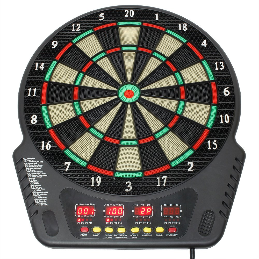 multicolore everbest4u Professional Dartboard /électronique Tournament Disc incl.6 fl/èches alimentation /à disque Dart
