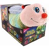 Pillow Pets Worm Glow Pets - Lightning Bug  Glow in the Dark Stuffed Animal Plush Toy