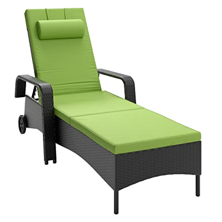 CORLIVING PRS-830-R Riverside Patio Reclining Lounger, Apple Green