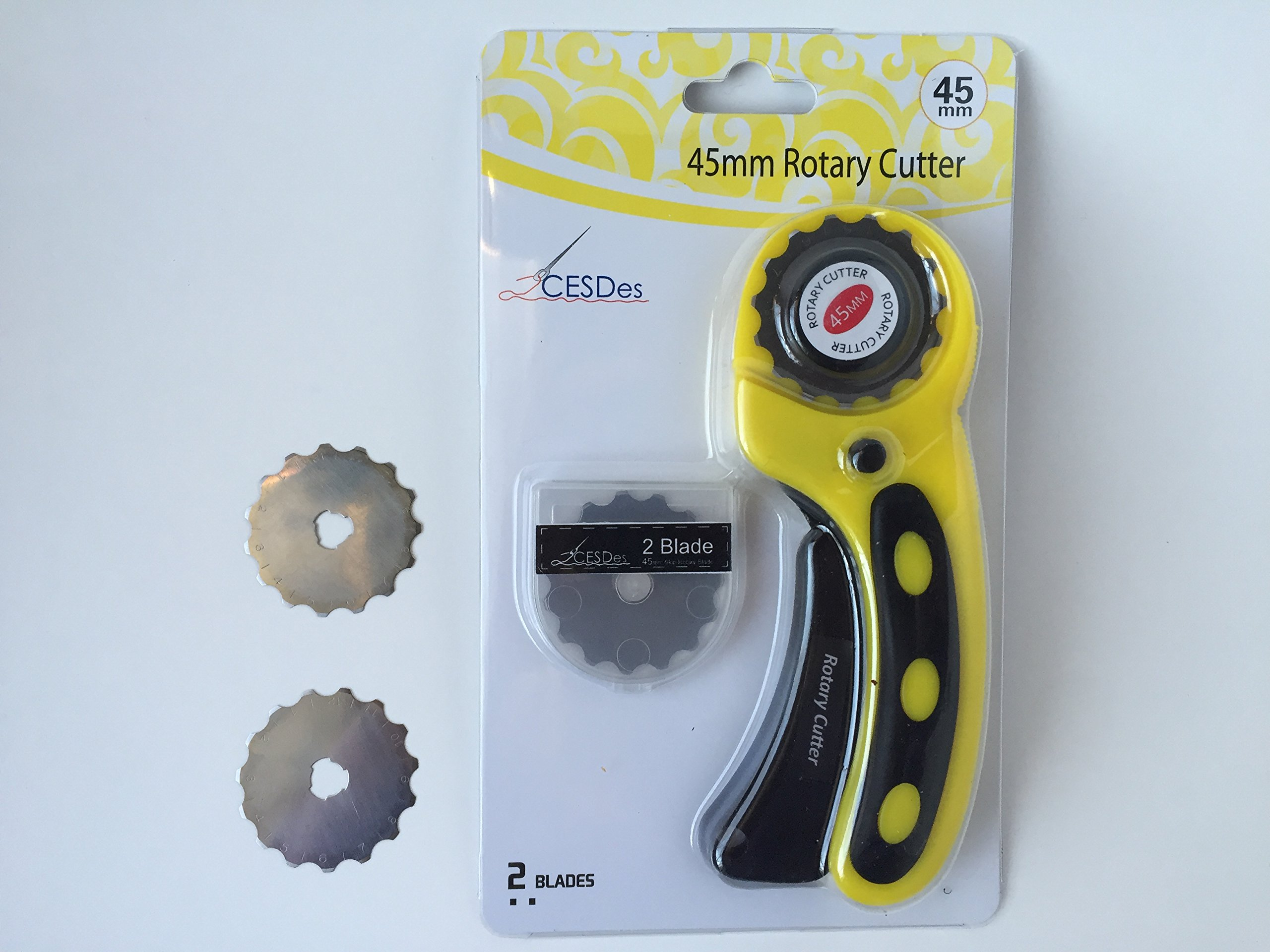 Crochet or Ribbon Edge Skip Stitch Rotary Blades and Cutter by CESDes for professional edge finishes (2) by CESDes