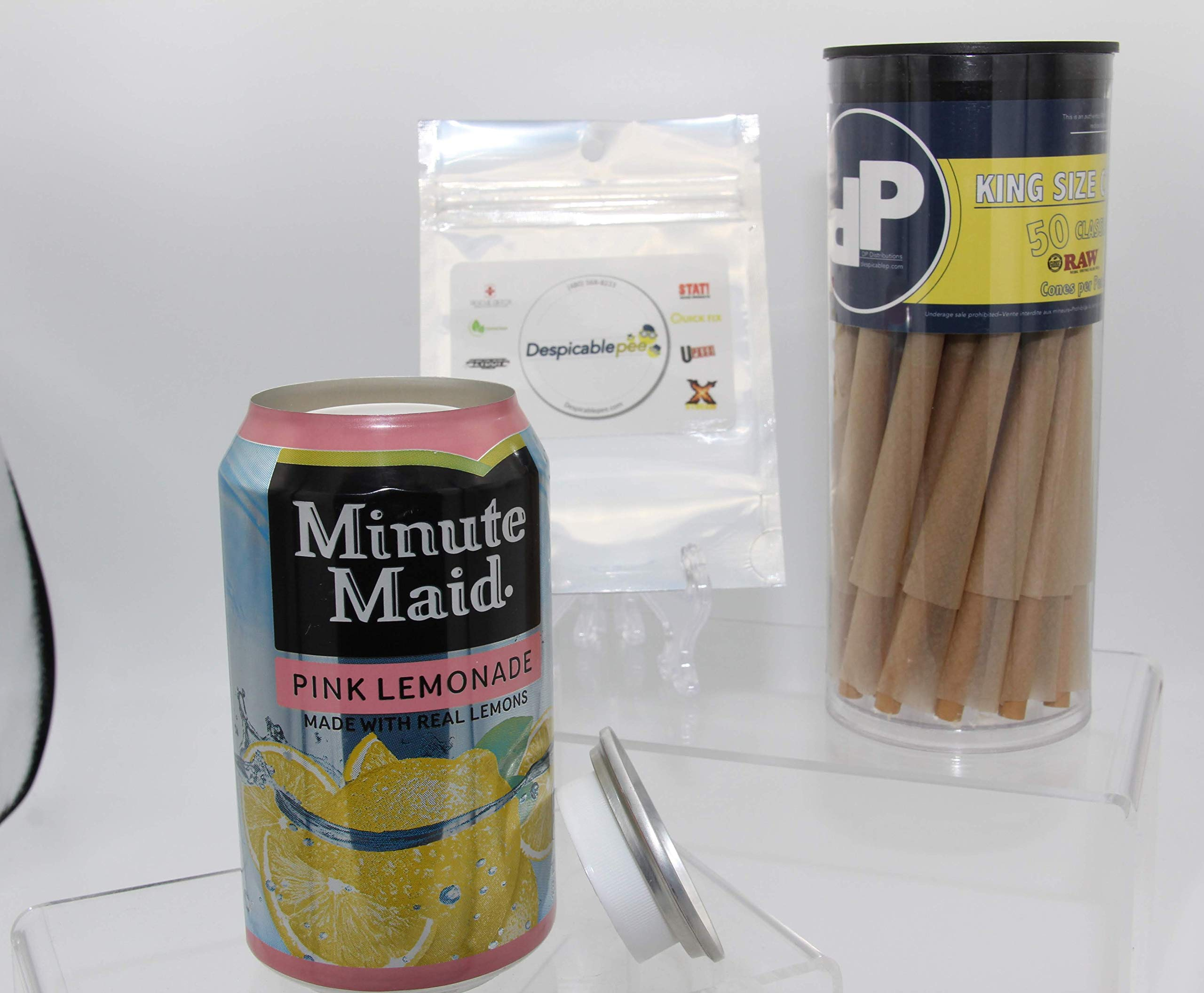 Minute Maid Pink Lemonade Can Diversion Safe, 50ct DP Toob & Sac by DP Distributions