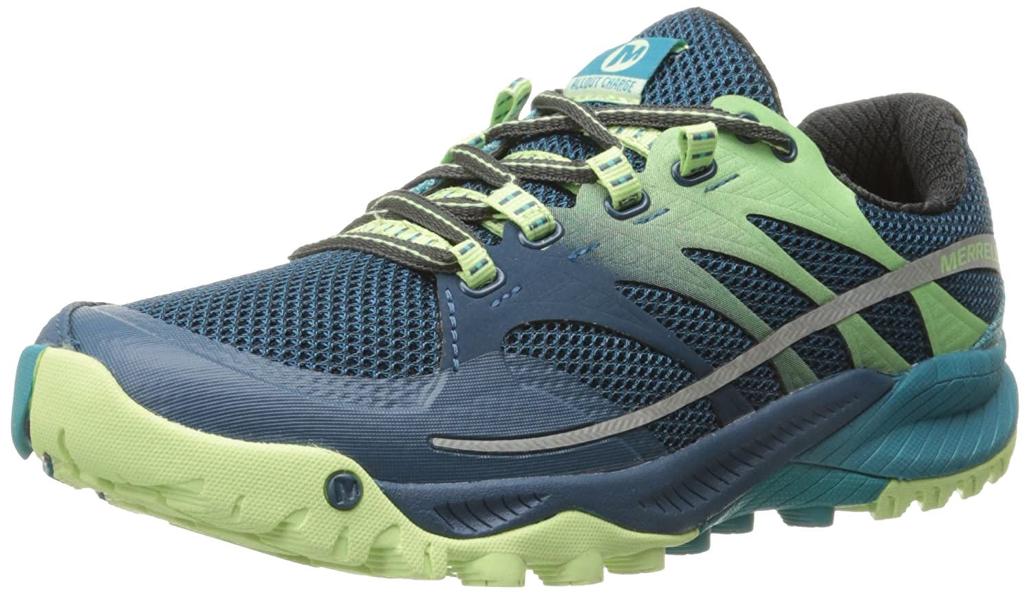 Merrell Women's All Out Charge Trail Running Shoe B00YBE8LE8 8 B(M) US|Blue