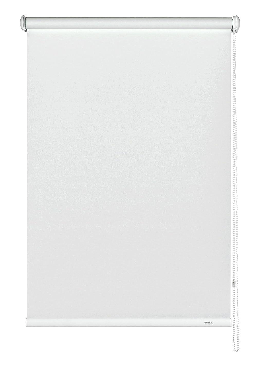 GARDINIA Seitenzug-Rollo zum Abdunkeln, Decken-, Wand- oder Nischenmontage, Lichtundurchlässig, Alle Montage-Teile inklusive, Weiß, 162 x 180 cm (BxH)
