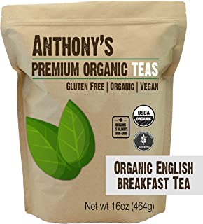 product image for Anthony's Organic English Breakfast Loose Leaf Tea, 1 lb, Gluten Free, Non GMO, Non Irradiated, Keto Friendly