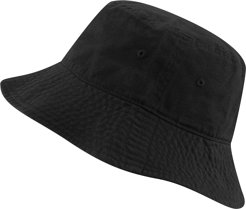 Stylish black bucket hat