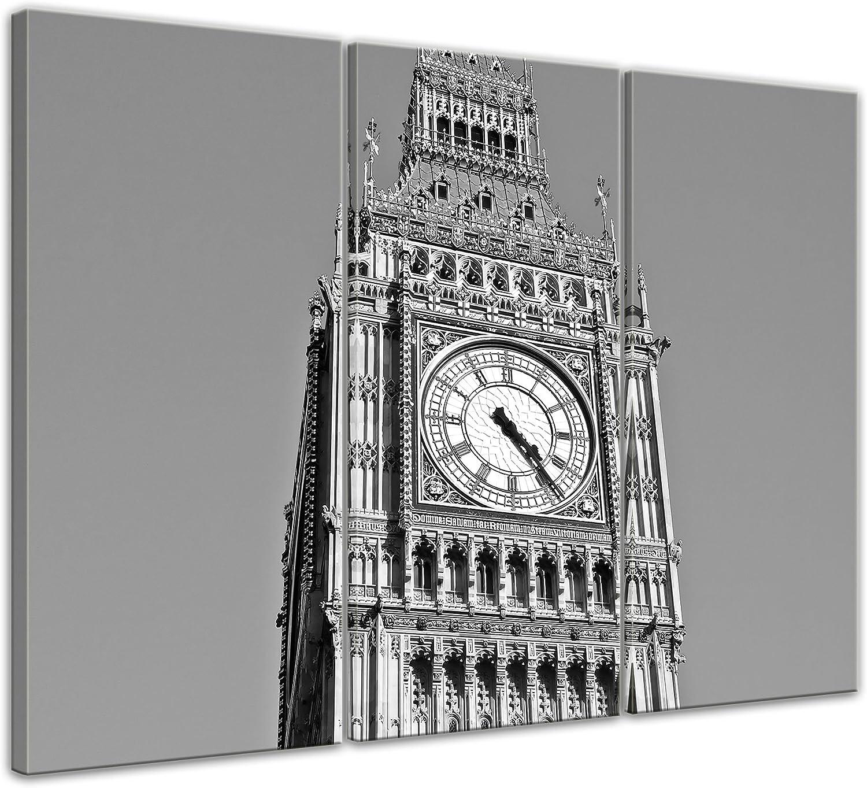 Bilderdepot24 Cuadros en Lienzo Big Ben sw 40 x 30 cm - Listo tensa, Directamente Desde el Fabricante: Amazon.es: Hogar